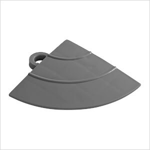 Grey Garage Floor Tile Ramp Corner (4 Pack)