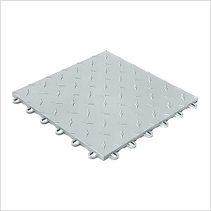 Diamondtrax Home 1ft x 1ft Pearl Silver Garage Floor Tile (Pack of 10)
