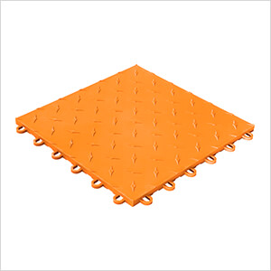 Diamondtrax Home 1ft x 1ft Tropical Orange Garage Floor Tile (Pack of 10)