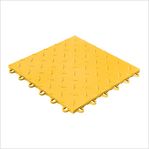 Diamondtrax Home 1ft x 1ft Citrus Yellow Garage Floor Tile (Pack of 50)