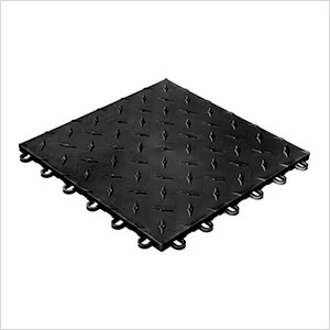 Diamondtrax Home 1ft x 1ft Jet Black Garage Floor Tile (Pack of 50)