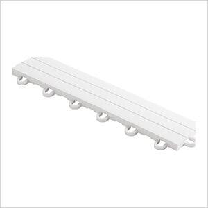 Diamondtrax Home 1ft Arctic White Garage Floor Tile Looped Edge (Pack of 10)