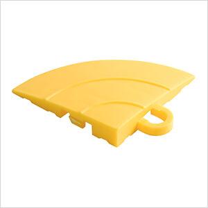 Diamondtrax Home Citrus Yellow Garage Floor Tile Corner (Pack of 4)