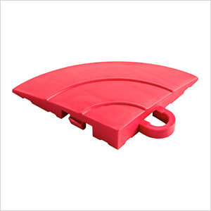 Diamondtrax Home Racing Red Garage Floor Tile Corner (Pack of 4)