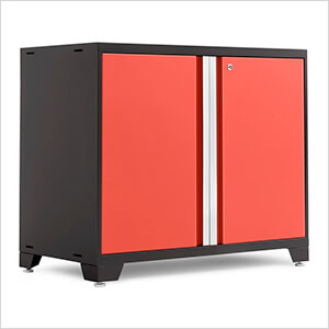 "PRO 3.0 Series Red 42"" 2-Door Base Cabinet"