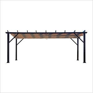 12 x 20 ft. Modena Aluminum Pergola (Espresso Frame / Mocha Canopy)