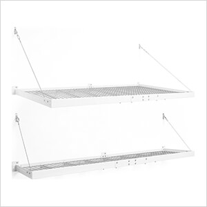 PRO Series 4 ft. x 8 ft. + 2 ft. x 8 ft. Wall Mounted Steel Shelves