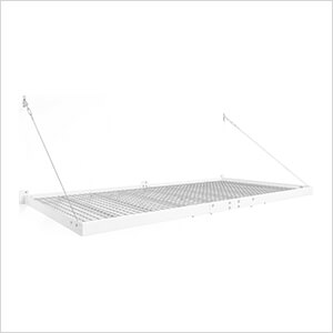 PRO Series 4 ft. x 8 ft. Wall Mounted Steel Shelf (2-Pack)