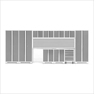 BOLD Series Platinum 12-Piece Set with Stainless Steel Top and Backsplash