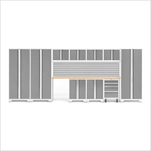 BOLD Series Platinum 12-Piece Set with Bamboo Top and Backsplash