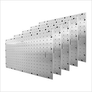 """41.5"""" X 25.5"""" Stainless Steel Pegboard (5-Pack)"""