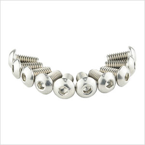 Button Head 304 Stainless Steel Screws (10 Pack)