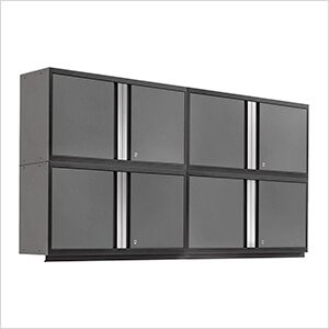 "PRO 3.0 Series Grey 42"" Wall Cabinet (4 Pack)"