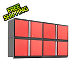 "NewAge Garage Cabinets PRO 3.0 Series Red 42"" Wall Cabinet (4 pack)"