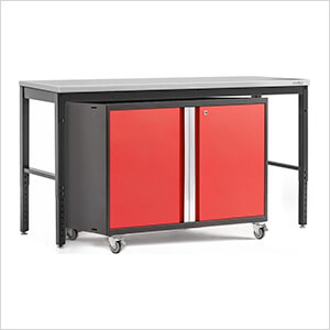 PRO Series 3.0 Red 2-Piece Workbench Set with Stainless Steel Top