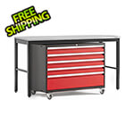 NewAge Garage Cabinets PRO Series 3.0 Red 2-Piece Workbench Set with Stainless Steel Top