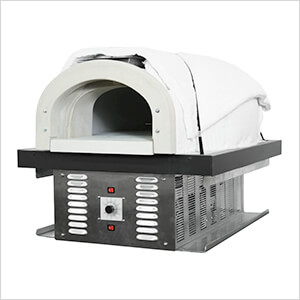 "38"" x 28"" Natural Gas / Wood Fired Hybrid Pizza Oven DIY Kit (Commercial)"