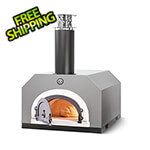 """Chicago Brick Oven 38"""" x 28"""" Countertop Wood Fired Pizza Oven (Silver Vein)"""