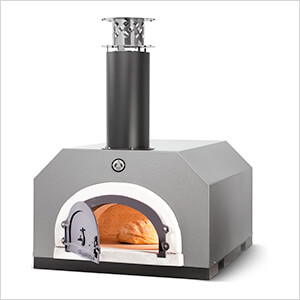 """38"""" x 28"""" Countertop Wood Fired Pizza Oven (Silver Vein)"""