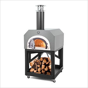"""38"""" x 28"""" Mobile Wood Fired Pizza Oven (Silver Vein)"""