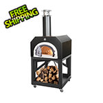 "Chicago Brick Oven 38"" x 28"" Mobile Wood Fired Pizza Oven (Solar Black)"