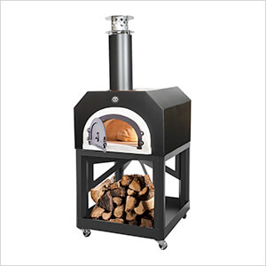 "38"" x 28"" Mobile Wood Fired Pizza Oven (Solar Black)"