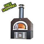 "Chicago Brick Oven 38"" x 28"" Hybrid Countertop Liquid Propane / Wood Pizza Oven (Copper Vein - Commercial)"