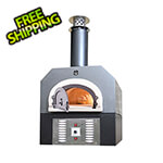 "Chicago Brick Oven 38"" x 28"" Hybrid Countertop Liquid Propane / Wood Pizza Oven (Silver Vein - Commercial)"
