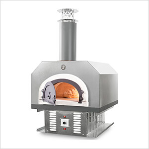 """38"""" x 28"""" Hybrid Countertop Liquid Propane / Wood Pizza Oven (Silver Vein - Commercial)"""