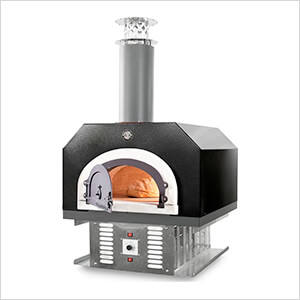 "38"" x 28"" Hybrid Countertop Liquid Propane / Wood Pizza Oven (Solar Black - Commercial)"
