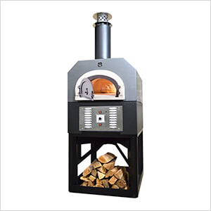 """38"""" x 28"""" Hybrid Countertop Natural Gas / Wood Pizza Oven (Silver Vein - Commercial)"""
