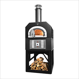 """38"""" x 28"""" Hybrid Countertop Natural Gas / Wood Pizza Oven (Solar Black - Commercial)"""