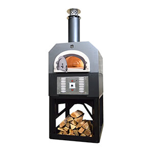 38 X 28 Hybrid Countertop Liquid Propane / Wood Pizza Oven (silver Vein - Commercial)