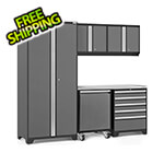 NewAge Garage Cabinets PRO Series 3.0 Grey 6-Piece Set with Stainless Steel Top