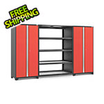 NewAge Garage Cabinets PRO Series 3.0 Red 3-Piece Garage Cabinet Set