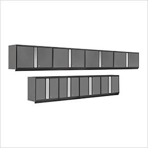 PRO 3.0 Series Grey 8-Piece Grey Wall Cabinet Set