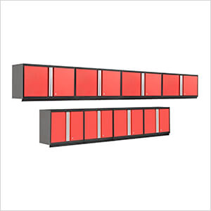 PRO 3.0 Series 8-Piece Red Wall Cabinet Set