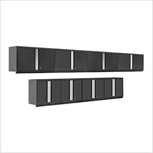 PRO 3.0 Series Black 8-Piece Black Wall Cabinet Set
