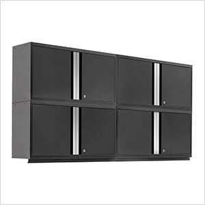 """PRO 3.0 Series Black 42"""" Wall Cabinet (4 Pack)"""