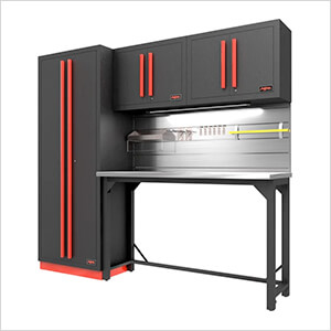 Fusion Pro 5-Piece Garage Workbench System - The Works (Barrett-Jackson Edition)