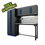 Proslat Fusion Pro 5-Piece Garage Workbench System - The Works (Blue)
