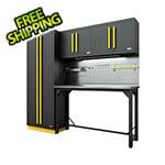 Proslat Fusion Pro 5-Piece Garage Workbench System - The Works (Yellow)