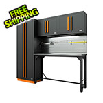 Proslat Fusion Pro 5-Piece Garage Workbench System - The Works (Orange)
