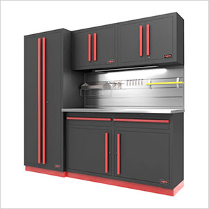 Fusion Pro 5-Piece Garage Cabinet System - The Works (Barrett-Jackson Edition)