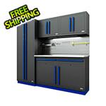 Proslat Fusion Pro 5-Piece Garage Cabinet System - The Works (Blue)