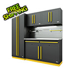 Proslat Fusion Pro 5-Piece Garage Cabinet System - The Works (Yellow)