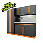 Proslat Fusion Pro 5-Piece Garage Cabinet System - The Works (Orange)