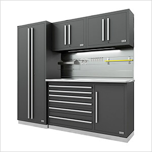 Fusion Pro 5-Piece Tool Cabinet System - The Works (Silver)