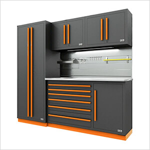 Fusion Pro 5-Piece Tool Cabinet System - The Works (Orange)