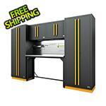Proslat Fusion Pro 6-Piece Garage Workbench System The Works (Yellow)